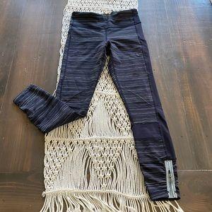 Lululemon striped navy blue leggings
